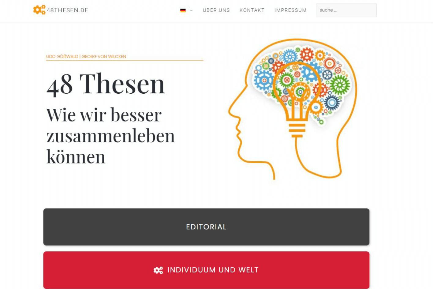 48thesen.de Referenz Webdesign WordPress von ankernet.de