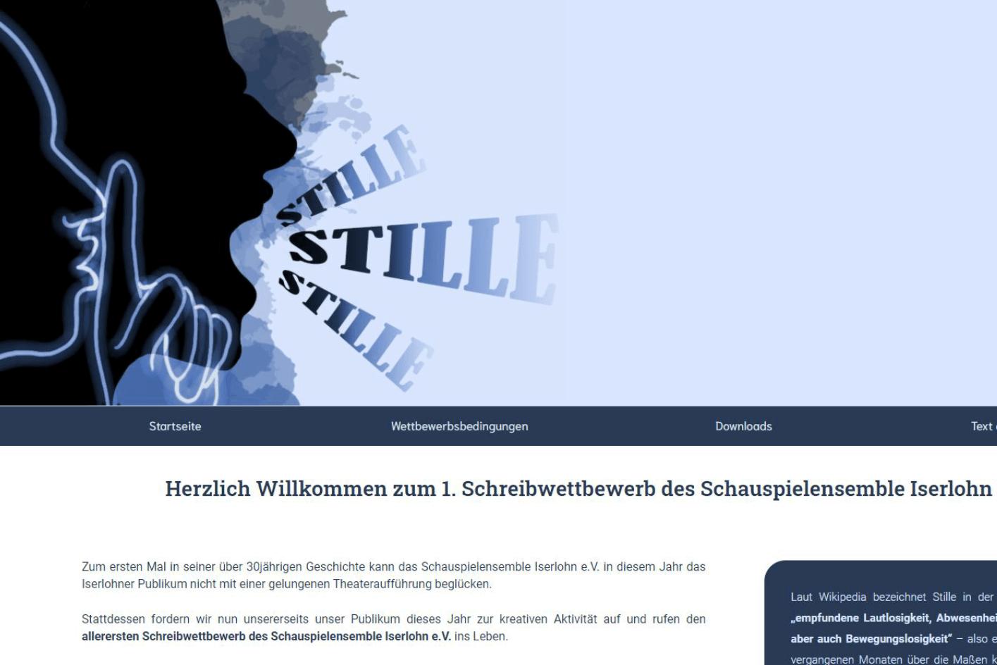 Schauspielensemble Iserlohn e.V. - WordPress Webdesign von ankernet.de