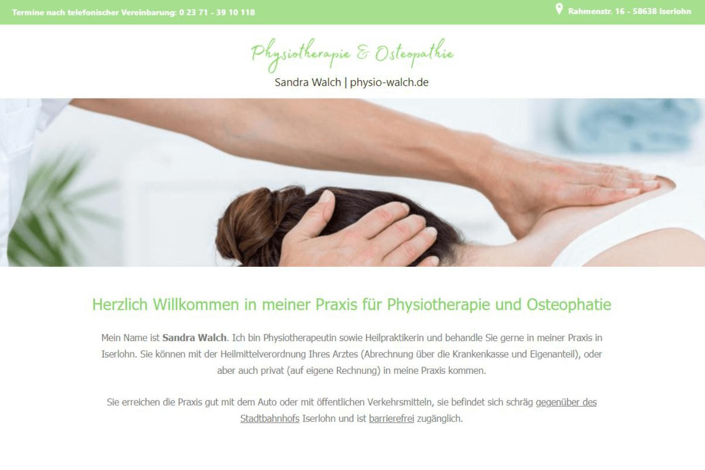 physio-walch.de - WordPress Website erstellt von ankernet.de